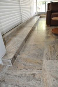 Natural Stone Tile Installation Living Space San Diego
